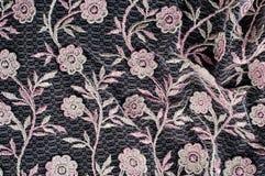 纹理,背景,样式 用花装饰的桃红色鞋带o 免版税图库摄影