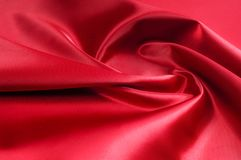 纹理,背景,样式 红色丝织物 这种缎织品 图库摄影