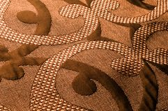 纹理,背景,样式 织品花呢棉花金黄棕色w 免版税库存照片
