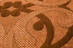 纹理,背景,样式 织品花呢棉花金黄棕色w 图库摄影