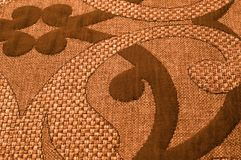 纹理,背景,样式 织品花呢棉花金黄棕色w 库存图片