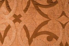 纹理,背景,样式 织品花呢棉花金黄棕色w 免版税库存图片