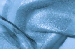 纹理,背景,样式 织品-丝绸光 淡蓝的col 免版税库存图片
