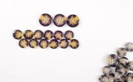 纹理,背景,缝合的按钮收藏 各种各样的缝合的b 免版税库存照片
