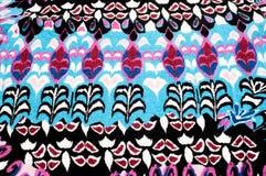 纹理,背景 被编织的织品 蓝色红色黑色样式 茶 免版税库存图片