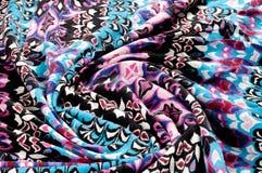 纹理,背景 被编织的织品 蓝色红色黑色样式 茶 图库摄影