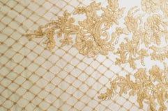 纹理 图画 背景 金子颜色鞋带与闪闪发光的 图库摄影