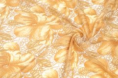 纹理 图画 背景 金黄棕色颜色花在a的 免版税图库摄影