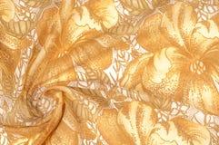 纹理 图画 背景 金黄棕色颜色花在a的 免版税库存图片
