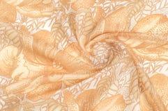 纹理 图画 背景 金黄棕色颜色花在a的 免版税库存照片