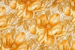 纹理 图画 背景 金黄棕色颜色花在a的 库存照片