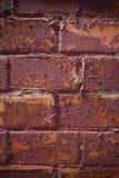纹理绘崩裂的和剥落的红砖墙壁 图库摄影