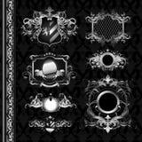 纹章中世纪盾 皇族释放例证