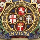 纹章在伦敦 免版税库存图片