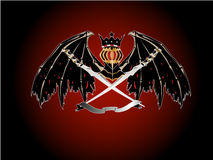 纹章学剑翼 向量例证