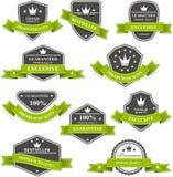 纹章学奖牌和象征与丝带 免版税库存照片