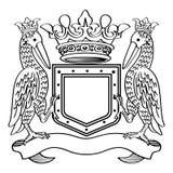 纹章学框架 免版税图库摄影