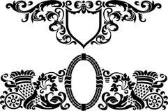 纹章学模式 库存照片