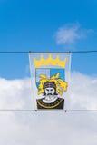 纹章学横幅在Middleburg,西兰省 免版税图库摄影