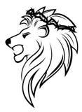 纹章学狮子棘手的花圈 免版税库存图片