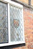 纹章学盾徽章窗口 库存图片