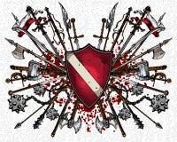纹章学盾武器 皇族释放例证