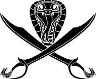 纹章学蛇标志 库存照片