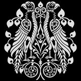 纹章学装饰的老鹰 皇族释放例证