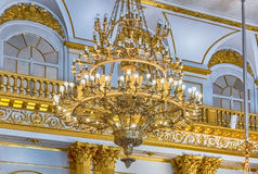 纹章霍尔,冬宫,埃尔米塔日博物馆,圣彼德堡, 免版税库存图片