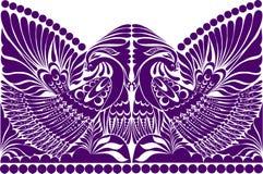 纹身花刺俄国人装饰品 与鸟的民间传说装饰品 免版税库存图片