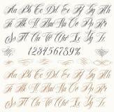 纹身花刺信件 库存图片