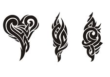 纹身花刺变化 库存图片