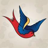 纹身花刺样式燕子,守旧派 免版税库存图片
