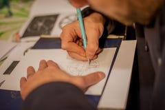 纹身花刺艺术家图画 库存图片