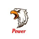 纹身花刺设计的叫喊的老鹰头标志 免版税图库摄影