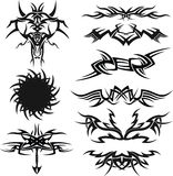 纹身花刺象集合 库存照片