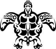 纹身花刺部族乌龟 库存图片