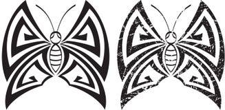 纹身花刺蝴蝶设计 免版税库存图片
