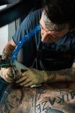 纹身花刺主要末端纹身花刺 库存图片