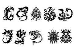 纹身花刺 库存图片
