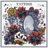 纹身花刺 库存照片