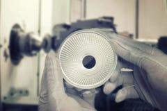 纺丝机产品在工厂的 免版税图库摄影