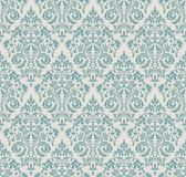 纺织品、纸或者表面纹理的传染媒介大马士革无缝的样式背景 向量例证