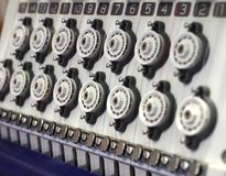 纺织品刺绣机器 免版税图库摄影