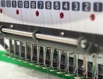 纺织品刺绣机器 免版税库存图片