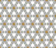 纺织品和六角纸乱画样式 免版税库存照片