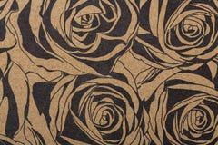 纺织品墙纸样式积土盖子表面印刷品缎带包装围巾的花纹花样纸在棕色牛皮纸 库存图片