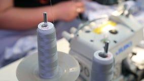 纺织品工厂的工作 股票录像
