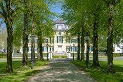 纺织品工厂Cromford庄园住宅在拉廷根,德国 免版税图库摄影