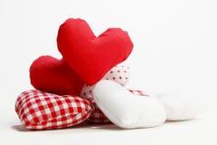 纺织品心脏 免版税图库摄影